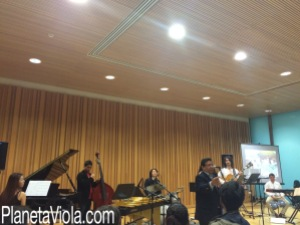 Imagen de la actuación en Berklee Valencia (22-04-2015)