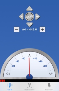 Nota LA (A) afinada correctamente a 442Hz