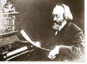 Max Bruch junto al piano